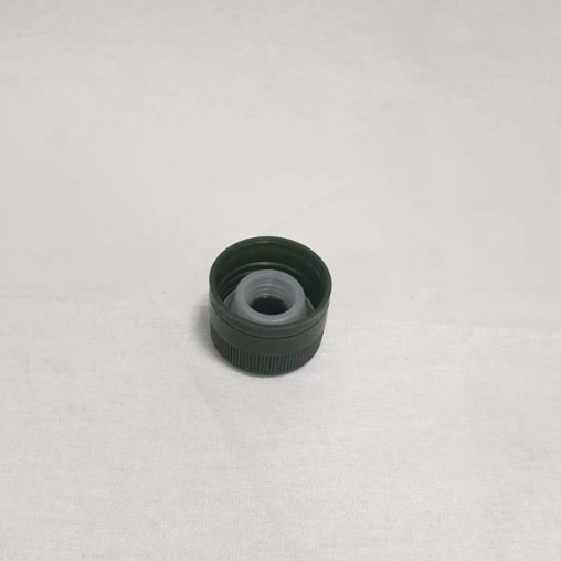 Bouchon plastique vert avec verseur