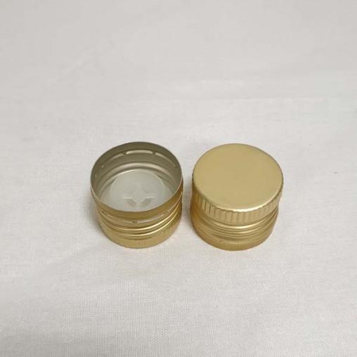 Bouchon à vis en aluminuim avec verseur couleur or - unité