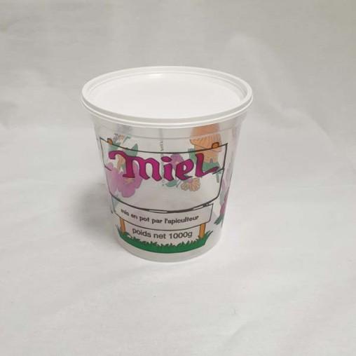 Pot plastique transparent impression 4 couleurs - 1 kg (unité)