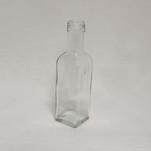 Bouteille en verre carrée - marasca 100 ml (en pack - unité)