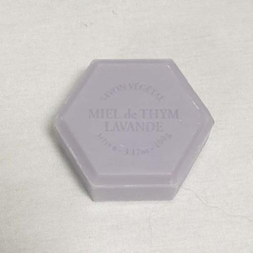Savon hexagonal 100 g - Lavande parfum lavande