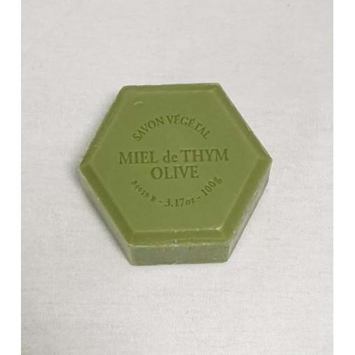 Savon hexagonal 100 g - Huile d'olive parfum églantine