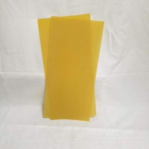 Feuille de cire gaufrée - format langstroth (le kg)